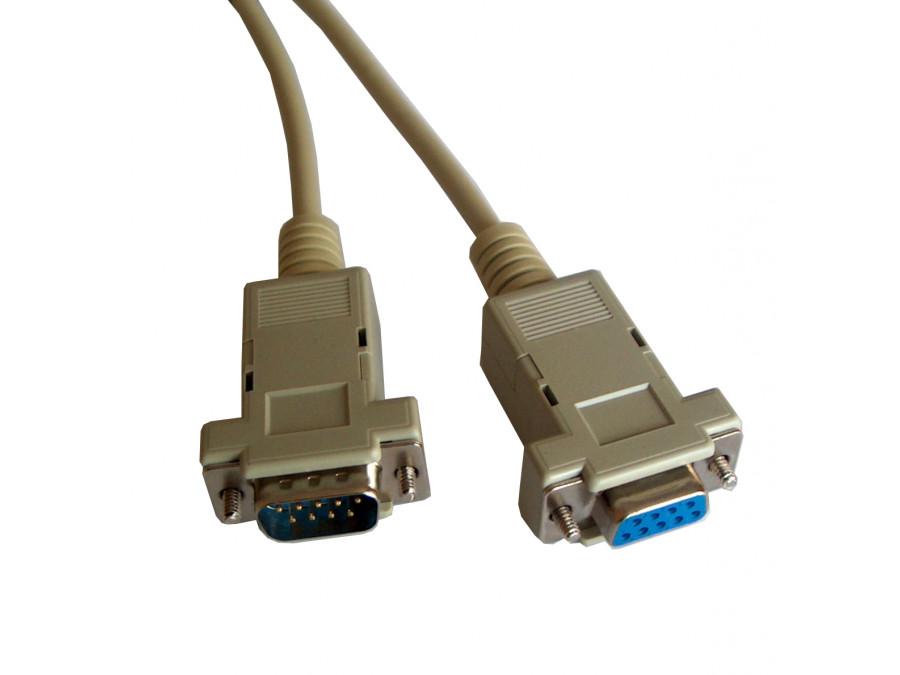 Kabel komputerowy DB9 wtyk-gniazdo 1,8m