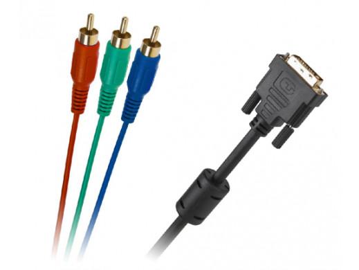 Kabel DVI (24+5) - 3RCA 1.8M