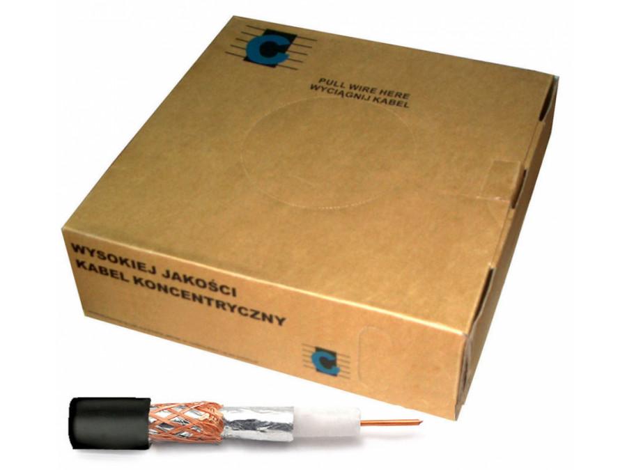 Kabel koncentryczny R-TV RG-59 200m/box czarny
