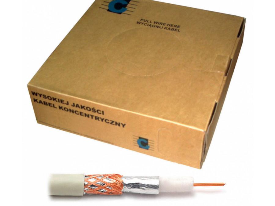 Kabel koncentryczny R-TV RG-59 200m/box biały