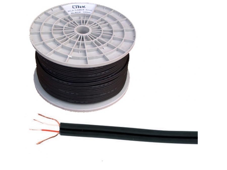 Kabel 2 x RCA-3mm czarny