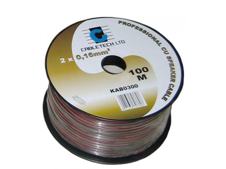 Kabel głośnikowy 0,16mm czarny