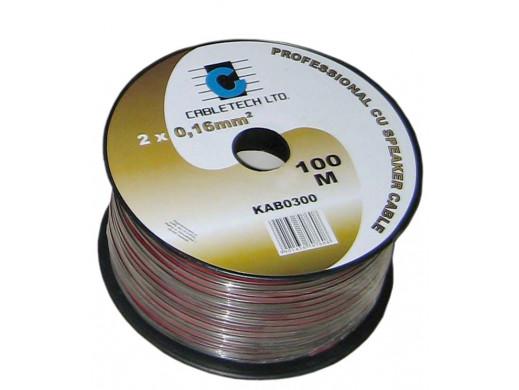 Kabel głośnikowy 0,2mm czarny