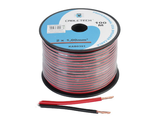 Kabel głośnikowy CCA 1.0mm...