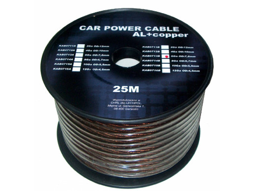 Kabel samochodowy 6Ga OD8mm...
