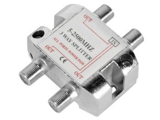 3-WAY SPLITTER 5-2500MHz