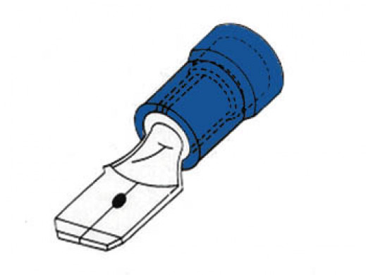MALE CONNECTOR 4.8mm BLUE