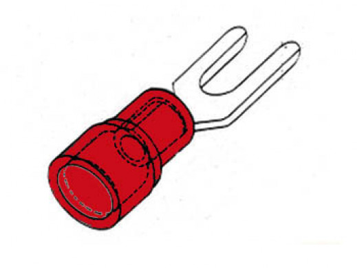 FORKED SPADE RED 3.7mm