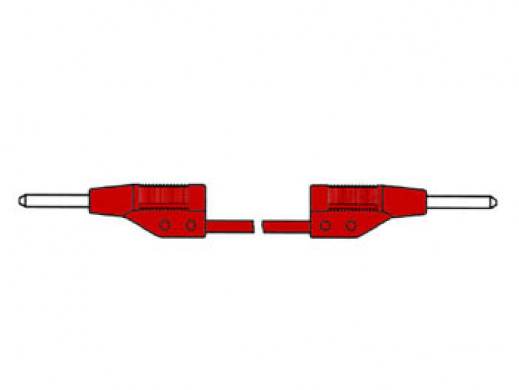 INJECTION-MOULDED MEASURING LEAD 2mm 25cm / RED (MVL 2/25)