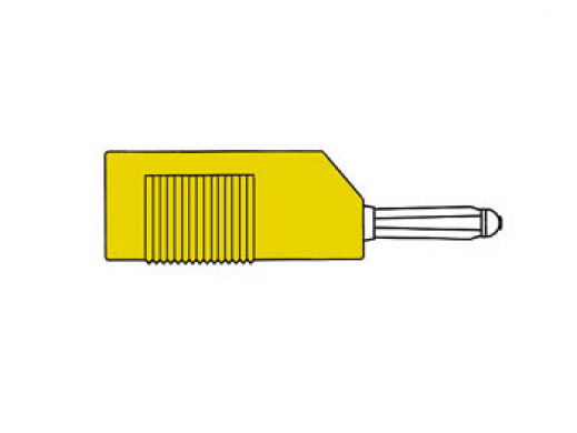 MATING CONNECTOR 4mm WITH LONGITUDINAL OR TRANSVERSE CABLE MOUNTING, WITH SCREW / YELLOW (BSB 20K)