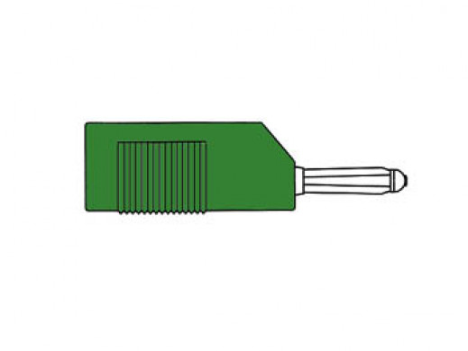 MATING CONNECTOR 4mm WITH LONGITUDINAL OR TRANSVERSE CABLE MOUNTING, WITH SCREW / GREEN (BSB 20K)