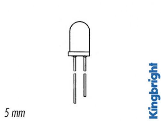 5mm DWUKOLOROWA + DWUBIEGUNOWA ŻARÓWKA LED ZIELONO-ŻÓŁTA BIAŁE ROZPROSZENIE ŚWIATŁA