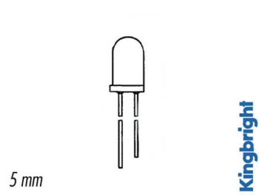 ŻARÓWKI LED 5mm - 12V OPÓR WEWNĘTRZNY - CZERWONE ROZPROSZONE