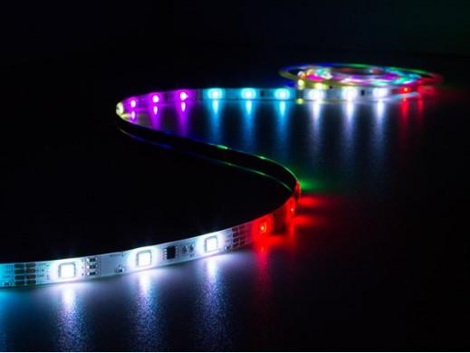 ZESTAW: ELASTYCZNY PASEK LED (ANIMOWANY CYFROWO ) + STEROWNIK + ZASILACZ - RGB - 150 diod LED - 5m - 12Vdc
