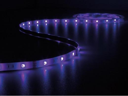 ZESTAW: ELASTYCZNY PASEK LED  (STEROWANY DŹWIĘKIEM)+ STEROWNIK + ZASILACZ -  RGB - 150 diod LED - 5m - 12Vdc