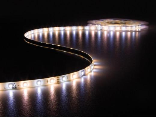 ZESTAW: ELASTYCZNY PASEK LED  (CIEPŁY I ZIMNY BIAŁY) + STEROWNIK + ZASILACZ - 300 diod LED - 5m - 12Vdc