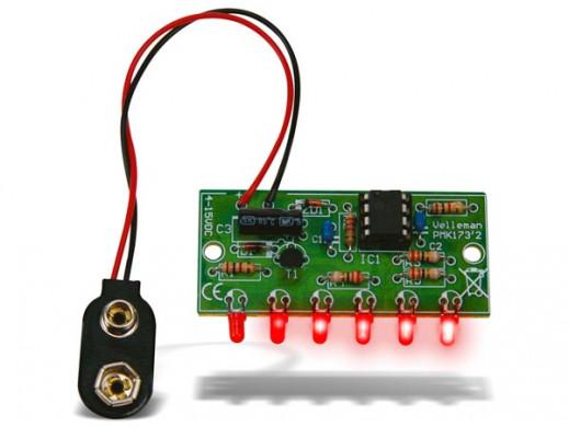 Mini efekt ścigania - - 6 diod LED