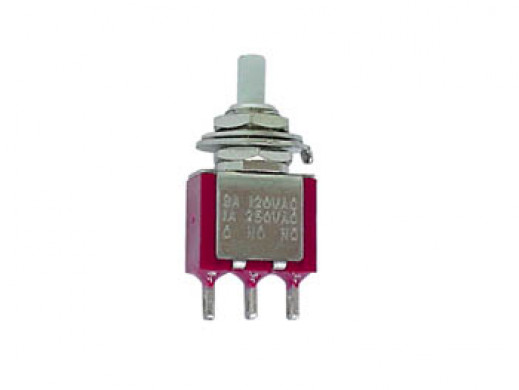 VERTICAL SNAP-ACTING MOMENTARY PUSH-BUTTON SWITCH - SPDT ON-(ON)