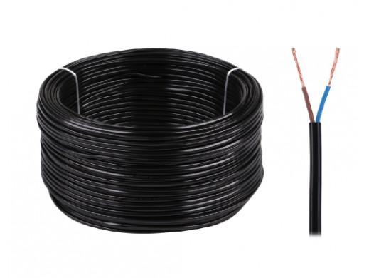 Kabel elektryczny OMYp 2x0,5 300/300V czarny
