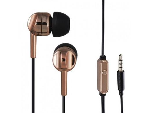 Słuchawki EAR3005BO, dokanałowe, miedziane, z mikrofonem do rozmów