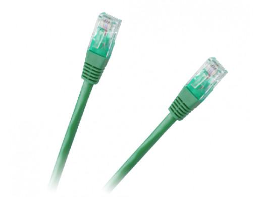 Patchcord kabel UTP 8c wtyk-wtyk 0,5m CCA zielony