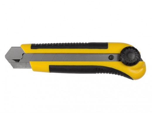 HEAVY DUTY UTILITY KNIFE - 25 mm BLADE - WITH SAFETY LOCK