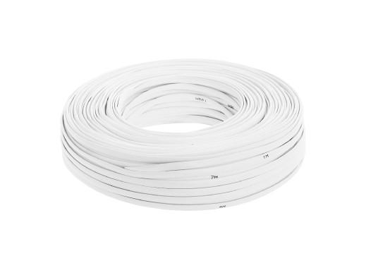 Kabel telefoniczny 8C biały