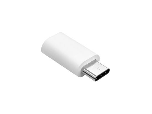 Adapter Przejściówka Micro USB - USB typu C Srebrna