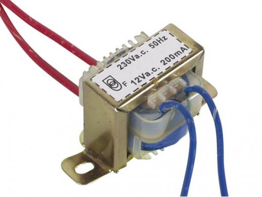 Transformator 2,4V, 1 x 12V, 200mA
