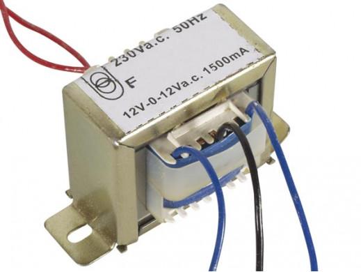 Transformator 12V, 2 x 1500mA