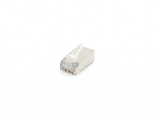 MODULAR CONNECTOR RJ45 8P8C FOR ROUND SHIELDED CABLES, 10 pcs IN BLISTER