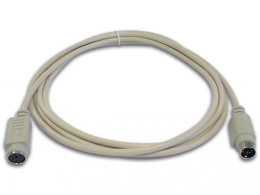 PS/2 KEYBOARD CABLE MINI DIN6 MALE - MINI DIN6 FEMALE / 2m