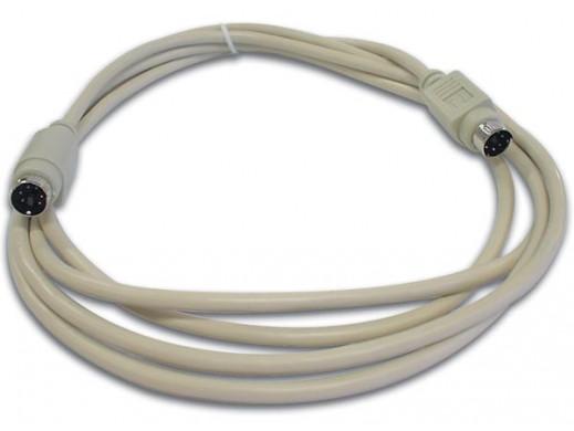 PS/2 KEYBOARD CABLE MINI DIN6 MALE - MINI DIN6 MALE / 2m