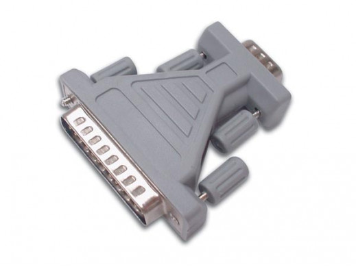 PORT ADAPTER SUBD9 MALE - SUBD25 MALE