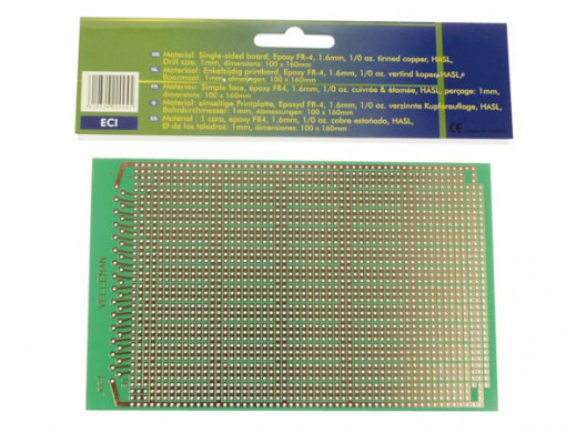 EUROCARD IC PATTERN - 100x160mm - FR4 (25pcs/box)