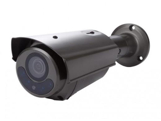 KAMERA HD CCTV - HD-TVI - ZEWNĘTRZNA - TYPU BULLET - IR - OBIEKTYW ZMIENNOOGNISKOWY Z NAPĘDEM SILNIKOWYM - 1080P - KOLOR SZARY