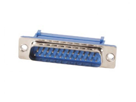 MALE 25-PIN SUB-D CONNECTOR FOR FLAT CABLE