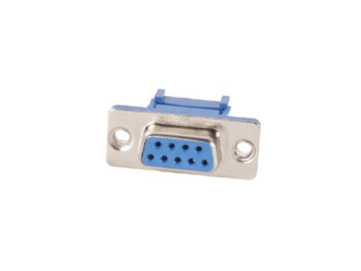FEMALE 9-PIN SUB-D CONNECTOR FOR FLAT CABLE