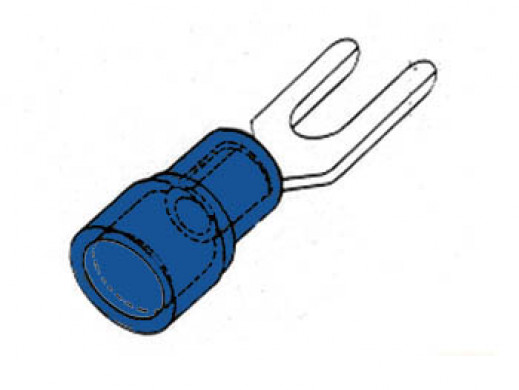 FORKED SPADE BLUE 3.7mm
