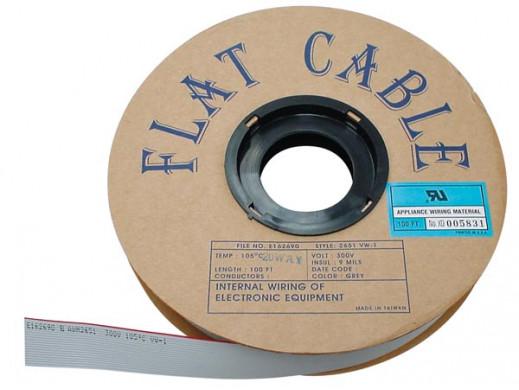 FLAT CABLE 40 CONDUCTORS GREY, 30m