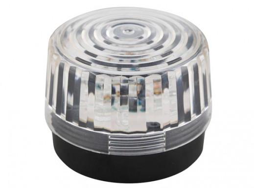 LAMPA BŁYSKAJĄCA LED - PRZEZROCZYSTA- 12 VDC - ø 100 mm