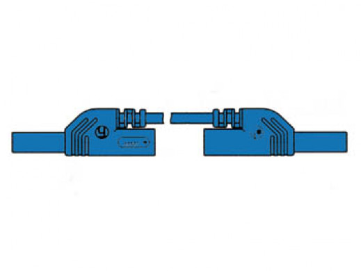 CONTACT PROTECTED MEASURING LEAD 4mm 100cm / BLUE (MLB-SH/WS 100/1)