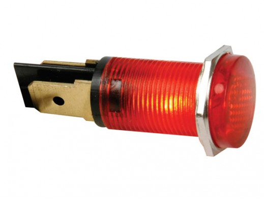 ROUND 14mm PANEL CONTROL LAMP 12V RED