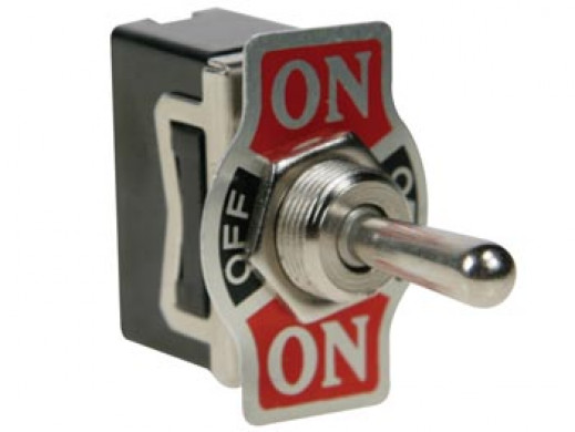 TOGGLE SWITCH SPDT 1P (ON)-OFF-(ON) 10A/250V - LOW-COST