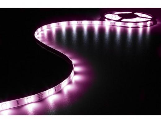 ZESTAW Z ELASTYCZNYMI TAŚMAMI LED (STEROWANE DŹWIĘKIEM), STEROWNIKIEM I ZASILACZEM - RGB - 90 diod LED - 3m - 12Vdc