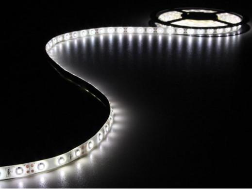 ZESTAW: ELASTYCZNA TAŚMA LED + ZASILACZ - ZIMNY BIAŁY - 300 diod LED - 5 m - 12 VDC - BEZ POWŁOKI