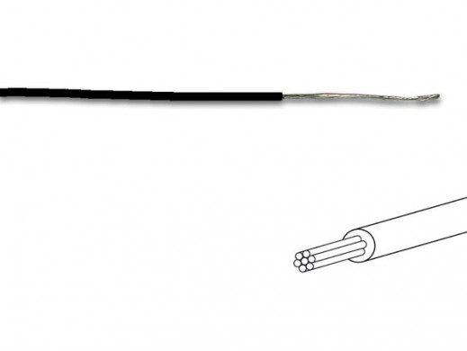 MOUNTING WIRE 0.50mm² - BLACK - MULTICORE