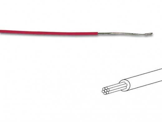 MOUNTING WIRE 0.50mm² - RED - MULTICORE