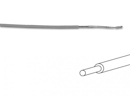 KABEL MONTAŻOWY - ø 1,4 mm - 0,2 mm² - PEŁNY RDZEŃ - SZARY