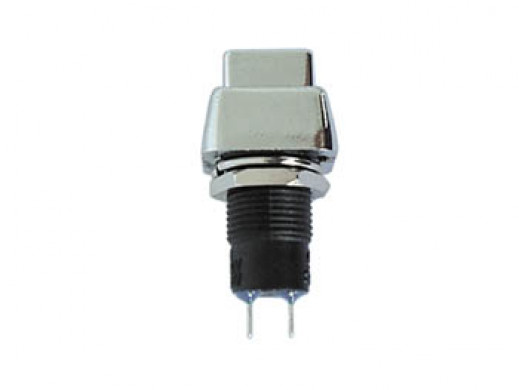 PUSH-BUTTON SWITCH OFF-ON SILVER